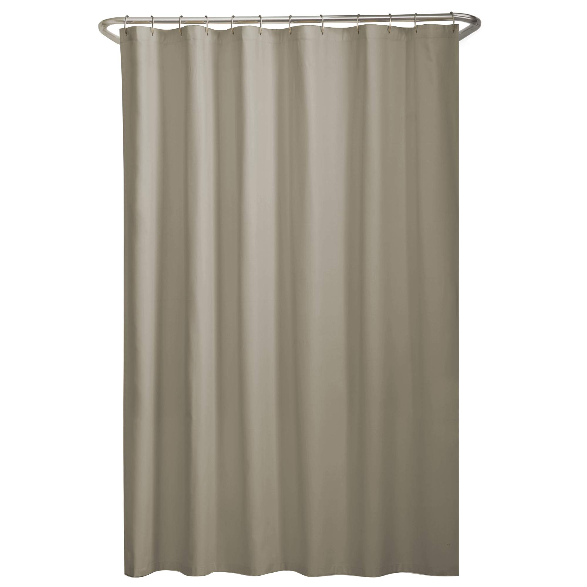 """MAYTEX Water Repellent Fabric Shower Curtain or Liner, 70"""" x 72"""", Beige"""