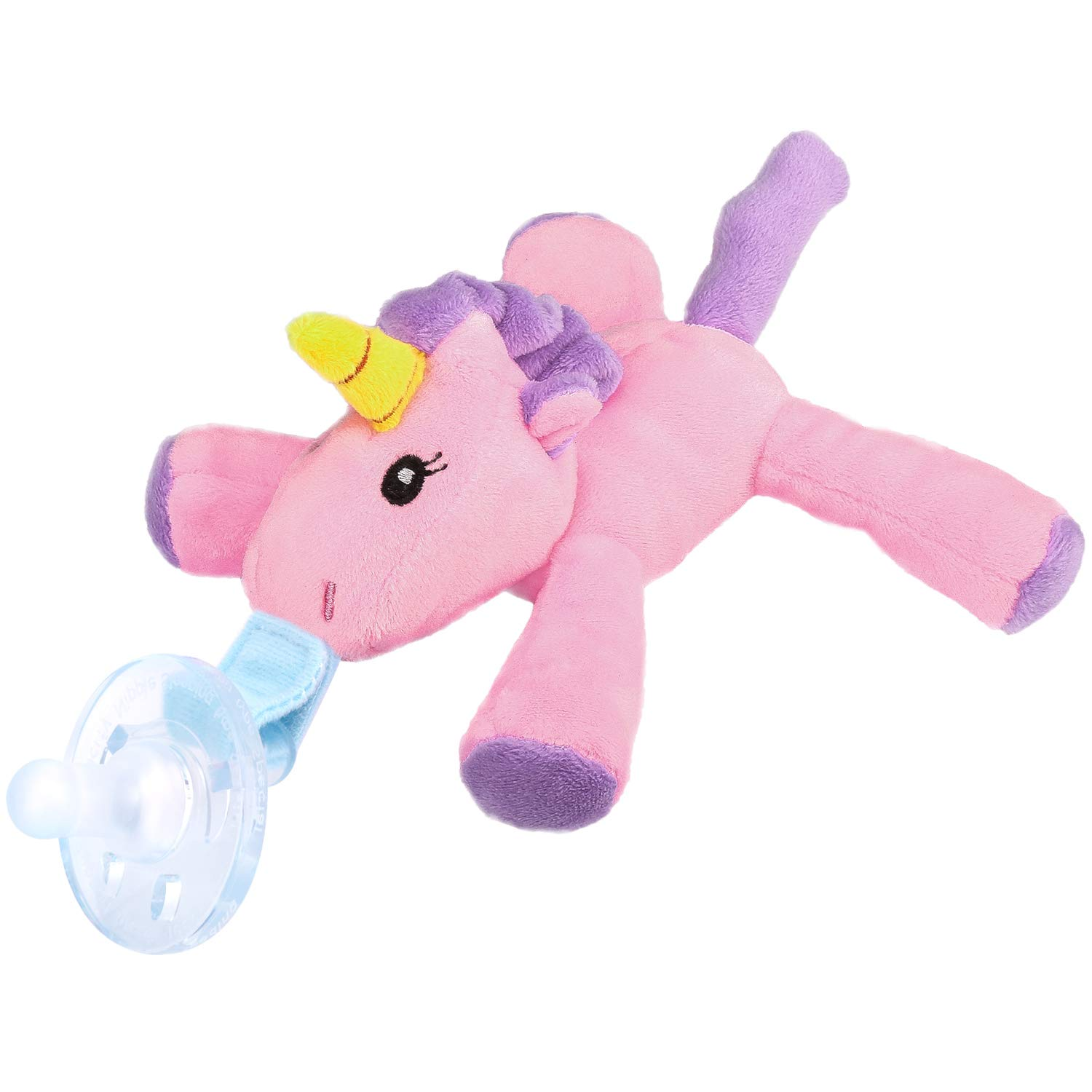 Puppy Makes Mischief Stuffed Animal, Zooawa Baby Pacifier Unicorn Pacifier Holder With Detachable Plush Stuffed Animal Toy For Infant Boys Girls 3 36 Months