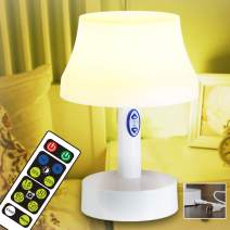 Led Night Night, Battery Operated Nursery Lamps with Remote Control, Portable 5-Stage Dimmable Table Lamp with Timer for Bedroom, Kids Room and Other Room