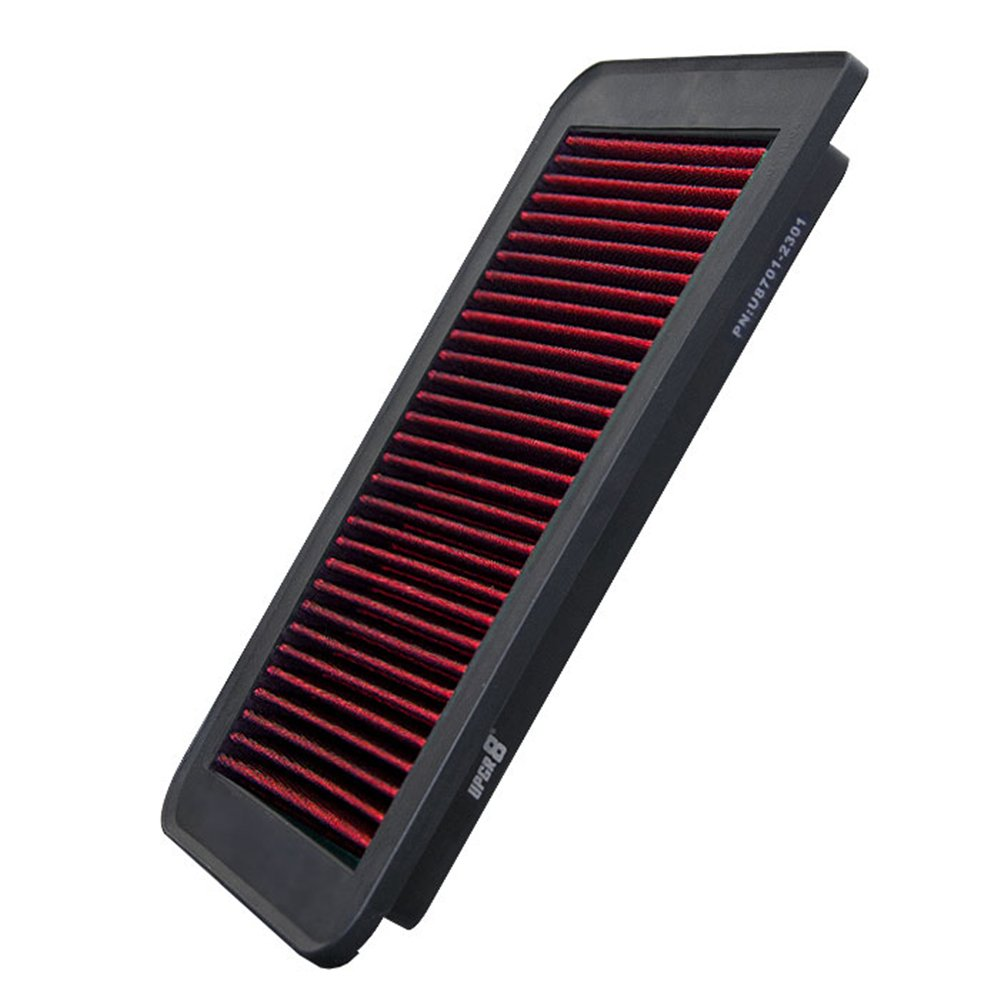 Upgr8 U8701-2301 Hd PRO OEM Replacement High Performance Dry Drop-in Panel Air Filter (Red)