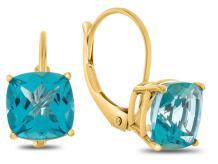 Finejewelers 7x7mm Cushion-Cut Created Ruby Lever-back Earrings