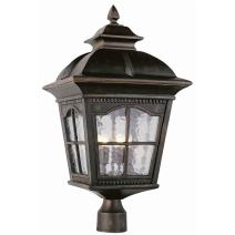 Trans Globe Lighting Trans Globe Imports 5425 AR Traditional Four Light Postmount Lantern from Briarwood Collection in Bronze/Dark Finish, 13.00 inches, 25-Inch, Antique Rust