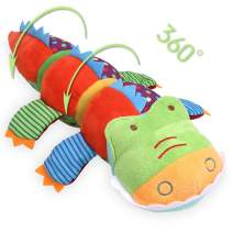 DricRoda Crocodile Baby Rattles, Plush Plush Stuffed Animals Rings Toy for Baby Shower,Easter Bonus,Newborn, Infant,Toddlers 3 Months up