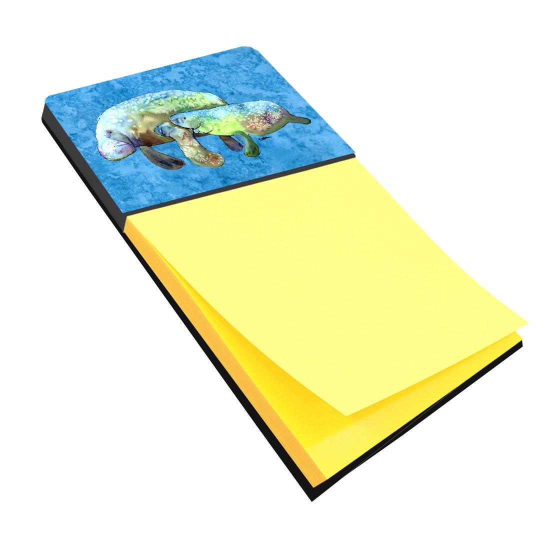 Caroline's Treasures 8660SN Manatee Refiillable Sticky Note Holder or Postit Note Dispenser, Large, Multicolor