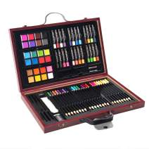 Goplus 80-Piece Art Set, Deluxe Art Supplies for Drawing, Painting and More, Art Creativity Kits in Portable Wooden Case, Great Gift for Artists, Teens, and Children