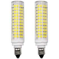 E11 LED Light Bulb 100W Halogen Bulbs Equivalent, JD T3/T4 E11 Mini Candelabra Base, Dimmable, AC 100V/110V/130V, 1100LM, Daylight White 6000K, 2-Pack