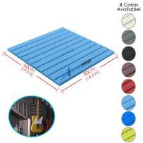 Arrowzoom New 1 Piece of (19.6 in X 19.6 in X 0.8 in) Soundproofing Insulation Flat Wedge Acoustic Wall Foam Padding Studio Foam Tiles AZ1035 (Baby Blue)