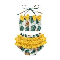 Toddler Baby Girls 2-Piece Tankini Bikini Pants Pineapple Bathing Suit Swimwear Swimsuit Summer Beachwear Outfit Set