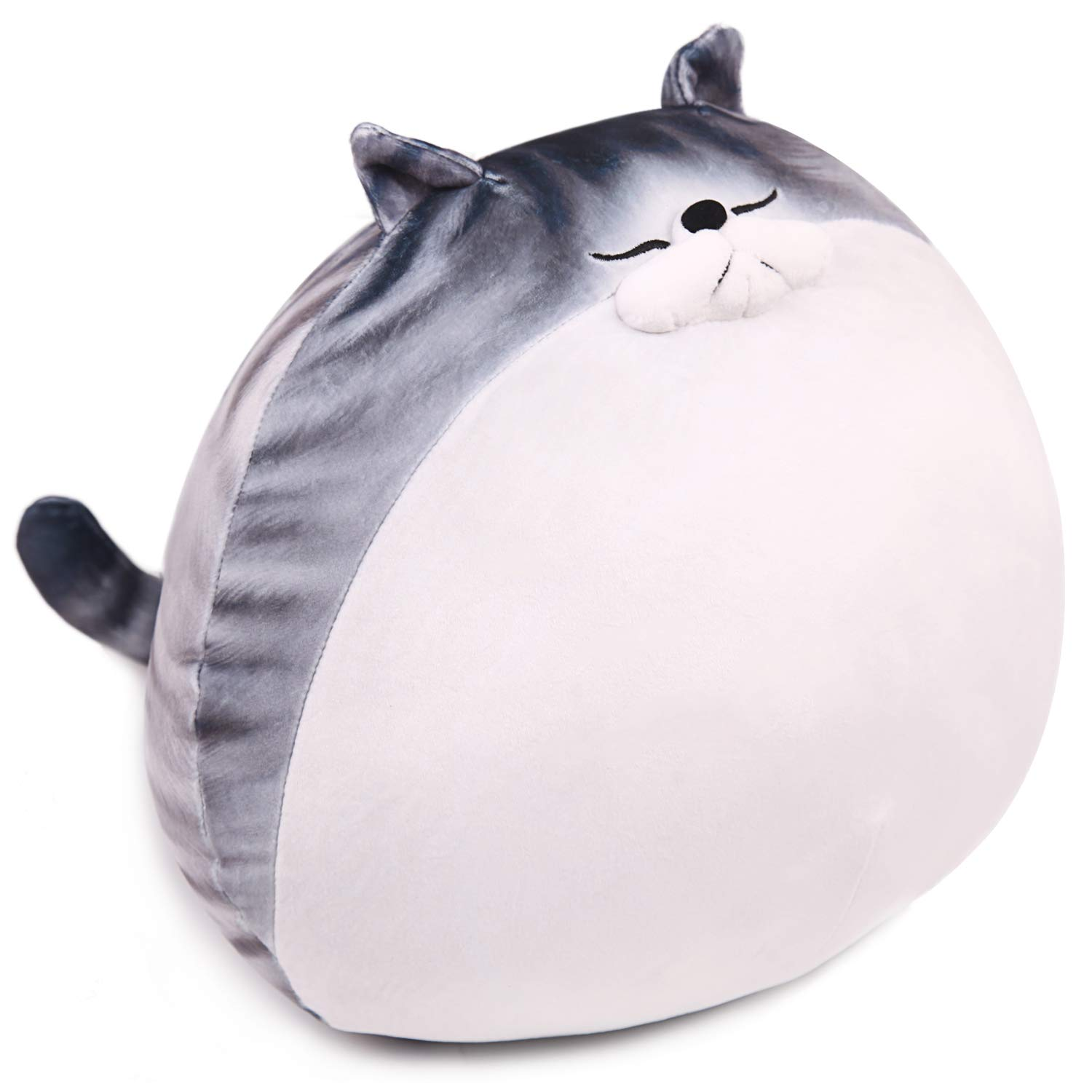 ARELUX Cute Chubby Cat Fat Hugging Pillow,Stuffed Animal Plush Pillow,Kids Gifts for Birthday, Valentine, Christmas