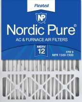 Nordic Pure 20x25x5 (4-3/8 Actual Depth) MERV 12 Lennox X6673 Replacement AC Furnace Air Filter, 2 PACK, 2 piece