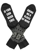 If You Can Read This Socks Novelty Crew Dress Christmas Movies Socks with Funny Saying Wine Socks Crazy Gift for Men Women