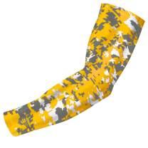 Bucwild Sports Compression Arm Sleeve - Youth & Adult Sizes - Baseball Football Basketball Sports (1 Arm Sleeve)
