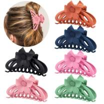 COCIDE 6 Pack Hair Claw Clips Large Plastic Jaw Clamp Banana Clasp Tortoise Catch French Design Barrette Ponytail Holder Acrylic Hair Grip Non-Slip Hair Accessories for Women and Girls