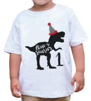 7 ate 9 Apparel One First Birthday Dinosaur T-Shirt