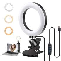 PeoTRIOL Video Conference Lighting, 360 Rotatable Video Light, USB Lamp Ring Light with Clip for Remote Working, Live Streaming, Distance Learning, Zoom Call Lighting or Computer Laptop Video Meeting