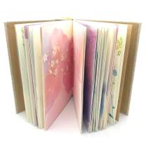 Siixu Colorful Blank Notebook, Unruled Personal Diary Journals to Write in for Women, Hardcover Writing Notepad Gift, Unique Watercolor Design, 192 Pages, 2 Bookmarks, Unlined