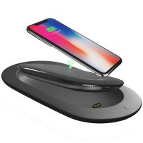 Portable Wireless Charger, MIPOW Qi Certified Wireless Charging Pad Station with Separable 5000mAh Wireless Power Bank, External Battery Pack for iPhone X/8/8 Plus/Samsung Galaxy S8/Note 8 (Black)