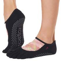 Toesox Grip Pilates Barre Socks – Non Slip Luna Full Toe for Yoga & Ballet