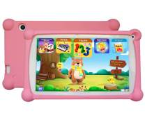 Kids Tablet, B.B.PAW Enhance/Train Kid's Abilities and Develop Talents,120+ English Educational Preloaded Apps, 7 Inch HD Display, 1+8G Android 6.0 Tablet-Pink