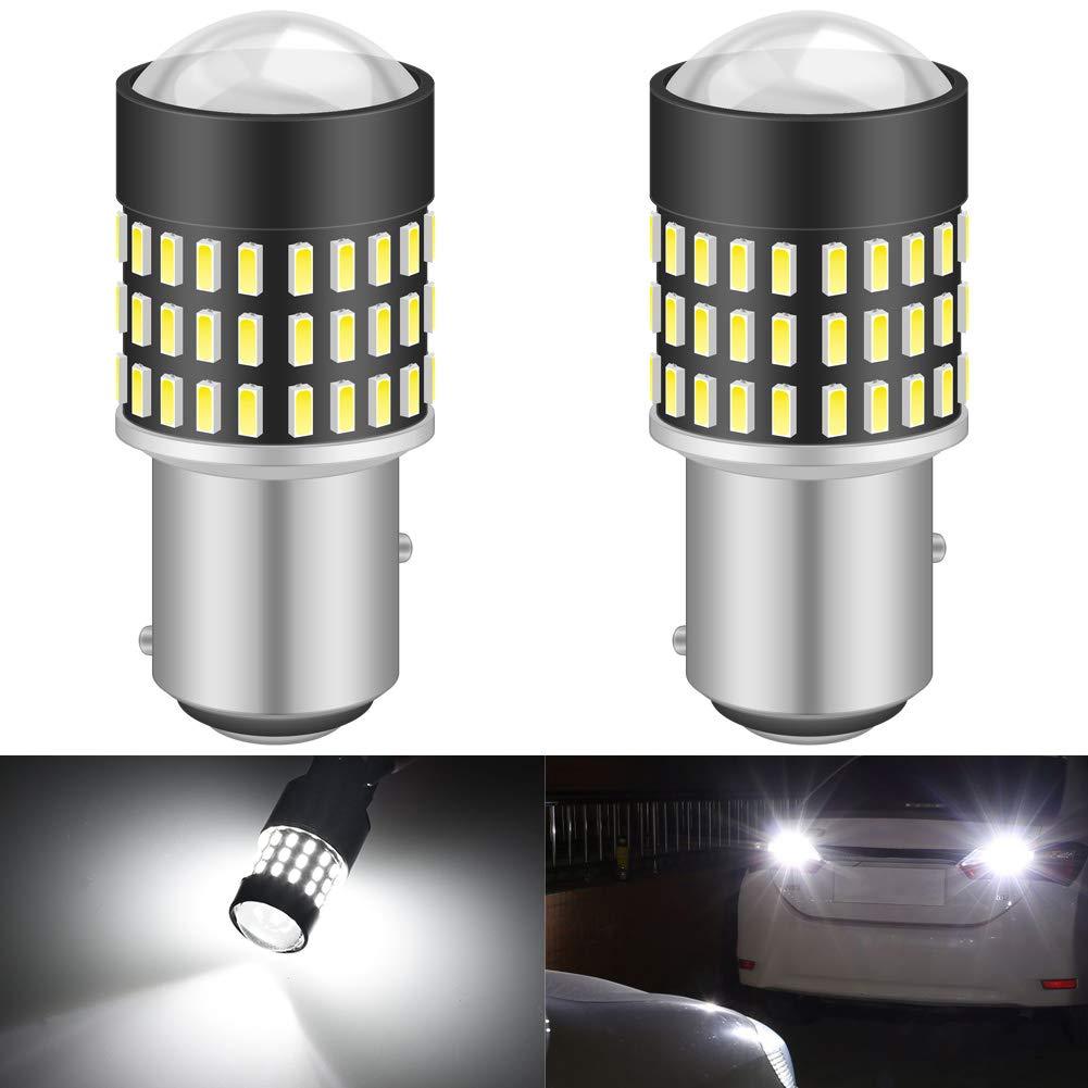 KATUR 1157 BAY15D 1016 1034 7528 Led Light Bulb Super Bright 900 Lumens High Power 3014 78SMD Lens LED Bulbs for Brake Turn Signal Tail Backup Reverse Brake Light Lamp,Xenon White(Pack of 2)