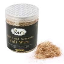 KINNO Gold Leaf Foil Wire, 5 Grams Antique Gold Foil Wire for Nail Art,Painting, Gilding, DIY,Home Decoration,Craft, Frame