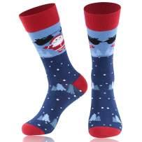 Christmas Family Socks,JIBIL Unisex Fun Colorful Fancy Design Cartoon Novelty Holiday Festive Crew Socks
