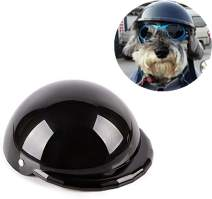 IAMUQ Dog Helmet, Cool Black Pet Hat Funny Dog Helmet Sun Rain Protection Small Medium Costumes Accessories