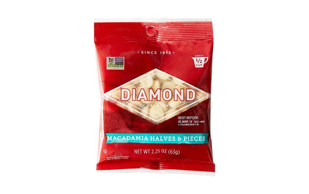 Diamond of California, Macadamias, Halves & Pieces 2.25 oz. (Pack of 12)