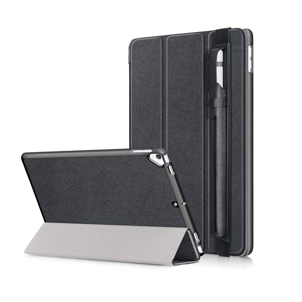 Case for iPad 10.2 Case 2019 with PU Leather Pencil Holder-Auto Wake/Sleep Cover iPad 7 Slim Lightweight Case Protective Hard Back Shell for New iPad 7th Generation 10.2 inch 2019 (A2197/A2198/A2200)