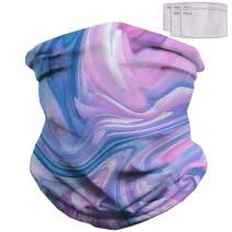 Scarf Bandanas Neck Gaiter with Filters, Face Mask Cover Balaclava for Men Women