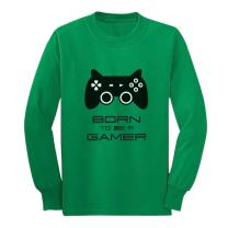 Born to Be a Gamer Cute Children Future Gamer Funny Long Sleeve Kids T-Shirt