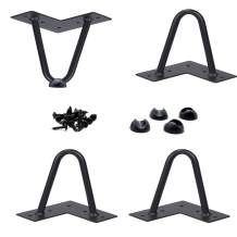 """4"""" Hairpin Legs 1/2"""" Thick (US Based Seller) Heavy Duty Double Welded Leg Protectors Screws Set of 4 Metal Coffee Table Furniture Sofa Desk Legs DIY Project - Mid Century Modern by Homeland Hardware"""