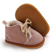 Meckior Winter Newborn Unisex Baby Girls Boys Velvet Rubber Sole Anit-Slip Shoes Prewalker Boots