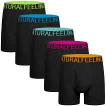 5Mayi Mens Underwear Boxer Briefs Cotton Men's Boxer Briefs Underwear Men Pack Open Fly Pouch S M L XL XXL