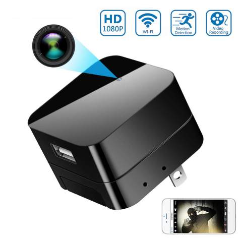 Hidden Spy Camera, Wireless USB Charger Wi-Fi Nanny Cam, Wall Adapter Full HD 1080P Mini Cams Plug for Home & Office Security Motion Detection Remote View on Phone APP