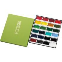 Kuretake GansaiTambi Watercolor Set, 24 Colors
