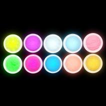 Anself 10Pcs UV Gel Nail Polish Nail Tip Art Glitter Powder Dust Luminous Fluorescent Sands, Glow In The Dark