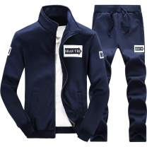 Men 2 Piece Tracksuit Set - Full Zip Athletic Sweatsuit Outfit Jogger Running Sport Set