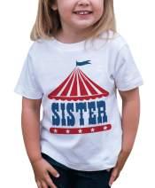 7 ate 9 Apparel Girls Birthday Sister Circus T-Shirt