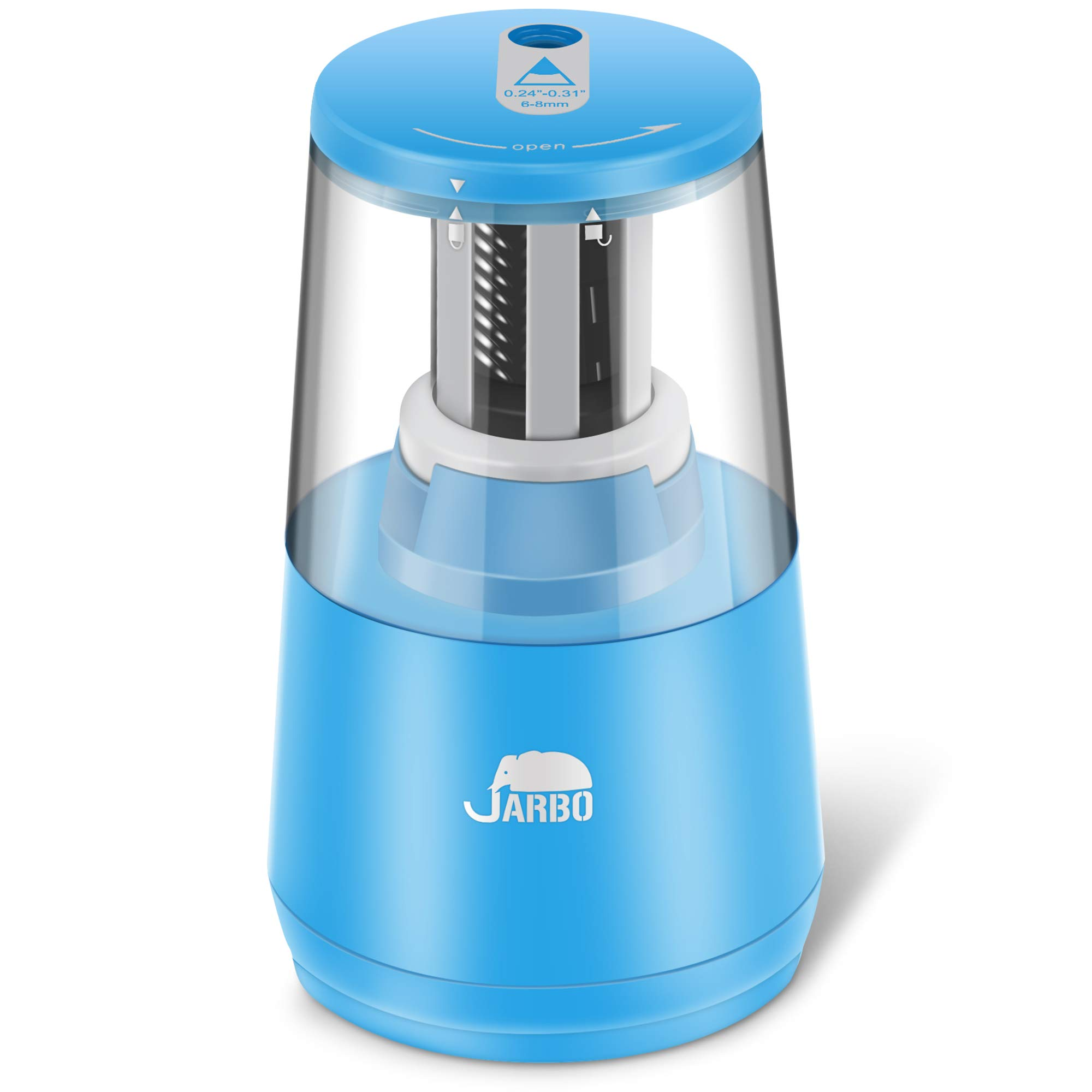 Colored Pencil Heavy duty Blade, Electric Pencil Sharpener Heavy Duty Blade Helical to Fast Sharpen and Auto Stop for 2B pencil and Colored Pencil Operated with USB or AA Battery in Classroom Office