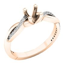 Dazzlingrock Collection 0.15 Carat (ctw) 18K Gold Round Cut Diamond Bridal Semi Mount Engagement Ring