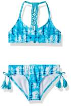 Kanu Surf Girls' Willow V-Neck Bikini Beach Sport 2-Piece Swimsuit