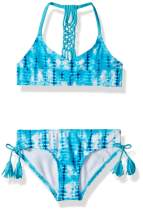 Kanu Surf Girls' Willow V-Neck Bikini Beach Sport 2-Piece Swimsuit