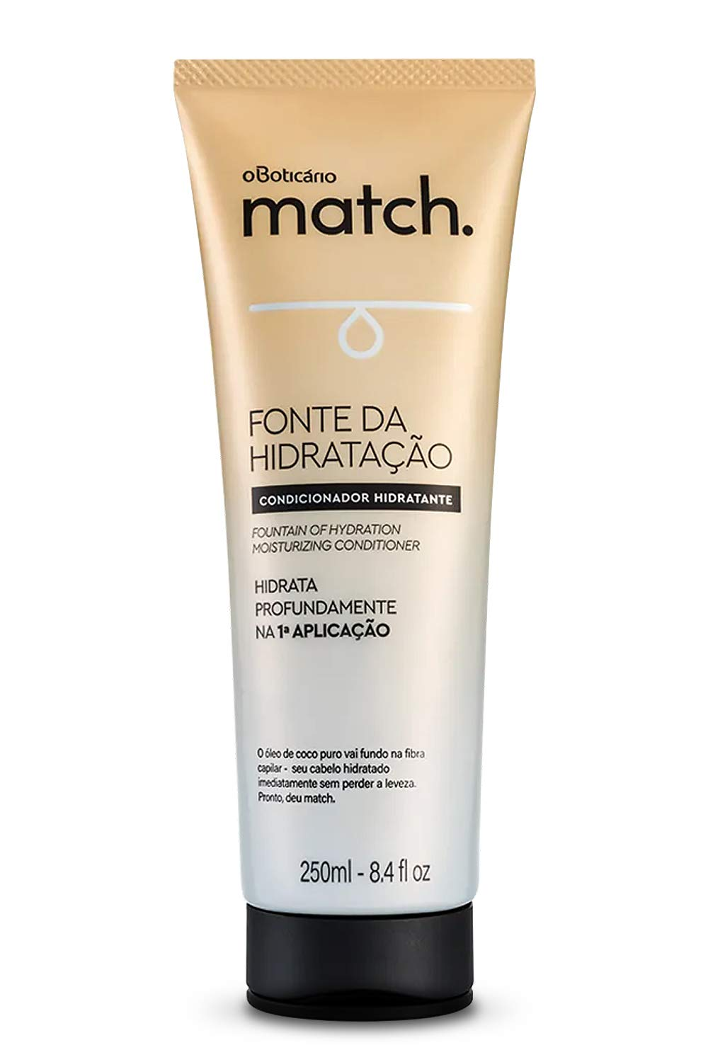 Match Fountain of Hydration Moisturizing Conditioner   100% Pure Coconut Oil   Hydrating Conditioner For Dry Hair & Damaged Hair (8.4 fl oz)