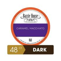 Barrie House Caramel Macchiato Single Serve Coffee Pods, 48 Pack | Compatible With Keurig K Cup Brewers | Fair Trade Organic Small Batch Artisan Coffee in Convenient Single Cup Capsules