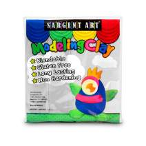 Sargent Art 22-4096 1-Pound Solid Color Modeling Clay, White