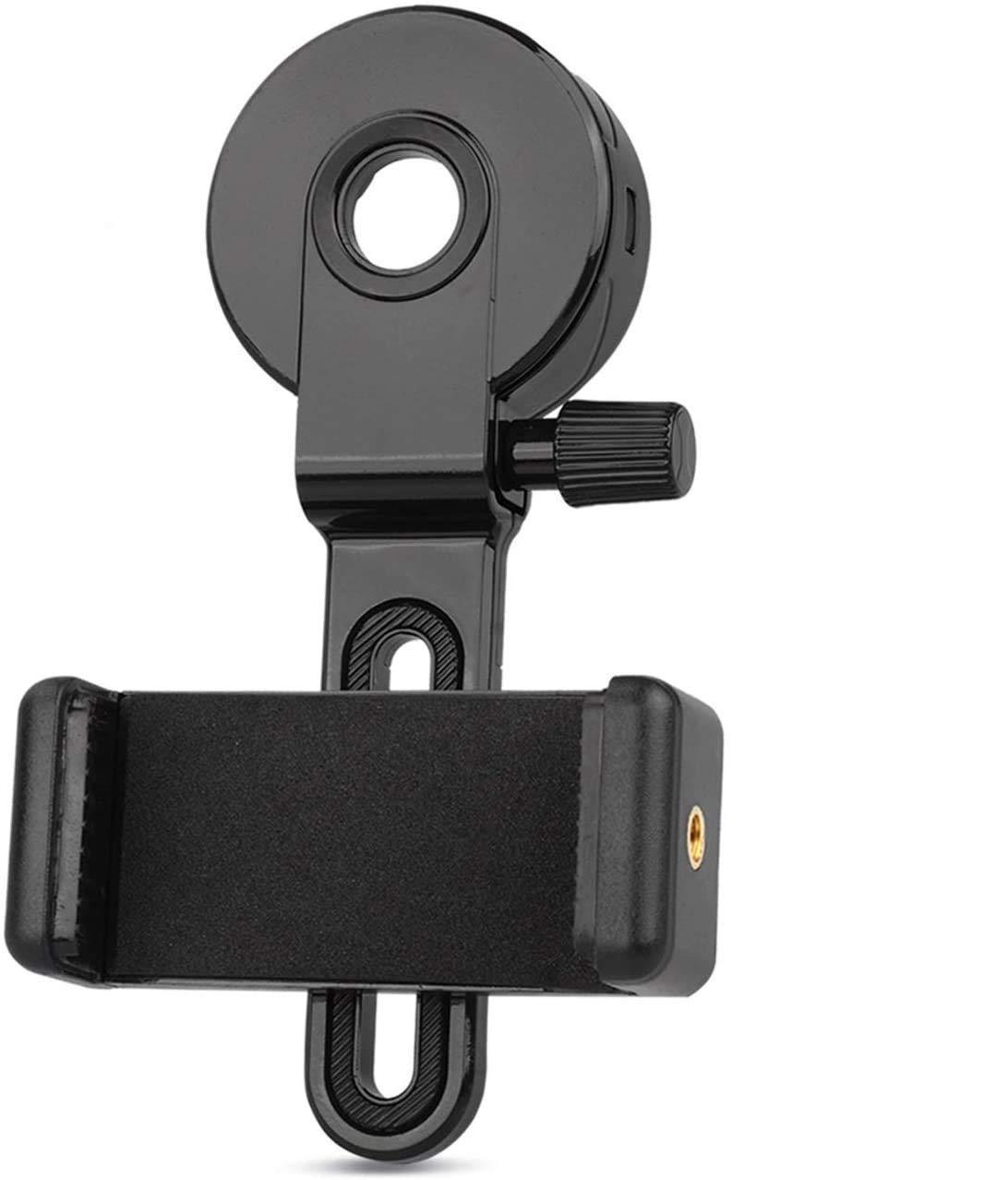 QMEET Telescope Cell Phone Adapter Mount | Smartphone Adapter for Telescope | Spotting Scope Phone Adapter | Telescope Phone Mount | Monocular Telescope Adapter.…