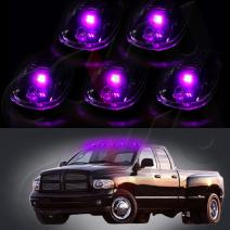 cciyu 5xRoof Running Light Clearance lamp Covers with Base Housing +5x T10 Pink led Replacement fit for 2012 2013 2014 2015 2016 Dodge Ram 1500 2500 3500 4500 5500