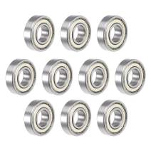 """uxcell R8ZZ Deep Groove Ball Bearing 1/2""""x1-1/8""""x5/16"""" Double Shielded ABEC-1 Bearings 10-Pack"""