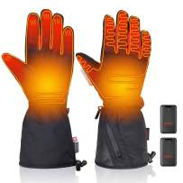 kemimoto Heated Gloves, Motorcycle Heated Gloves with Rechargeable Li-ion Battery Heated Winter Gloves for Men and Women